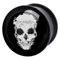 negru trandafiri craniu