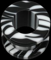 Zebra negru - Acrylic - Plugs, Tunnels