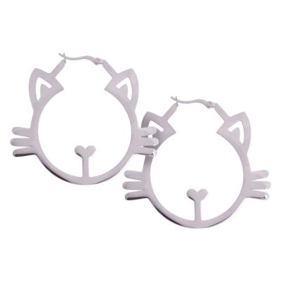 Cercei argint Meow