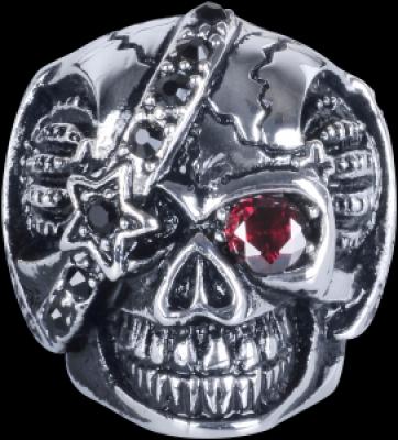craniu cu strasuri - otel chirurgical Basicline - Inele