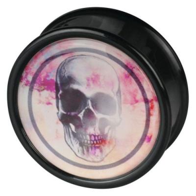 craniu negru roz