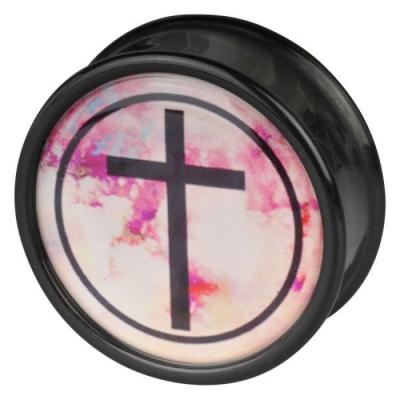cruce negru roz