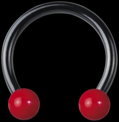 Enamel rosu bilas - otel chirurgical Blackline - Pierce circular