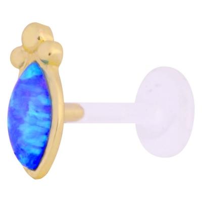 Golden albastru Bindi Opal
