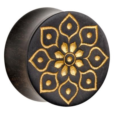 Golden Florescence on negru lemn