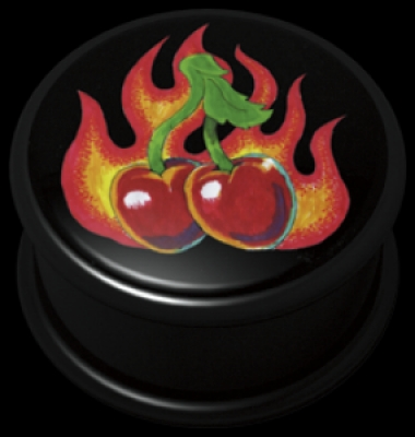 ilustratie Flaming cirese - PMMA - Plugs, Tunnels