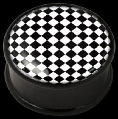 ilustratie Op-Art Chessboard - PMMA - Plugs, Tunnels