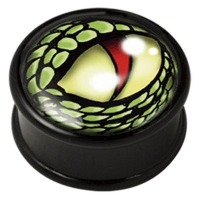 ilustratie verde Lizard ochi