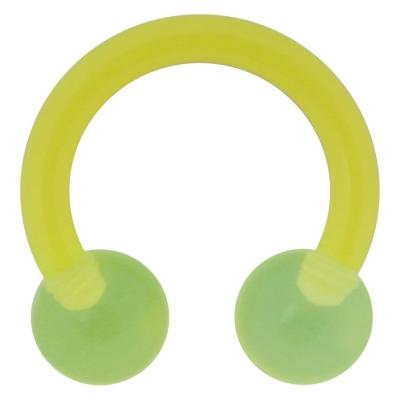 Piercing in limba Basic Circular verde