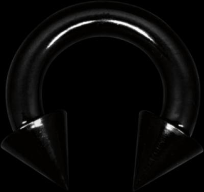 Piercing in limba Circular Mysterium con otel chirurgical Blackline Wildcat
