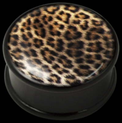 Piercing Plug ilustratie Leopard Skin PMMA Wildcat