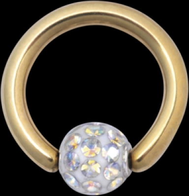 Piercing Titan Zirconline - Multi Sealed bila BCR cu strasuri Wildcat