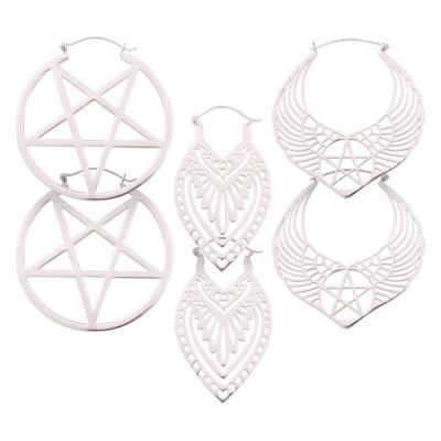 Set argint Hoop 01