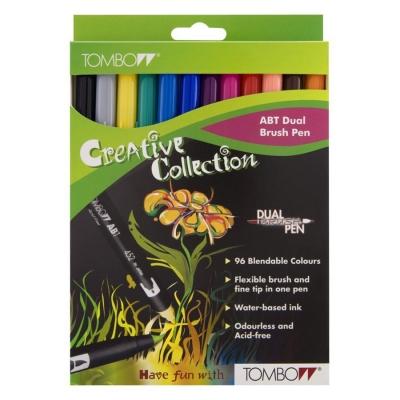 Set Tombow - Dual Brush Pen 12er Grundfarben