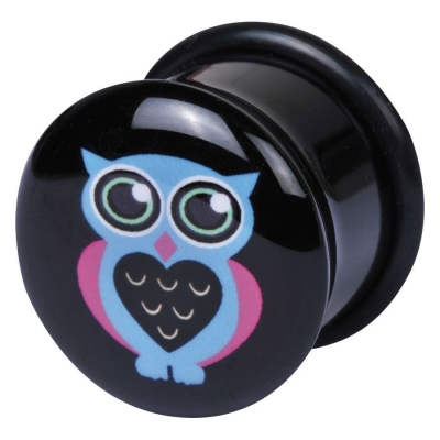 Single Flared Logo albastru Owl