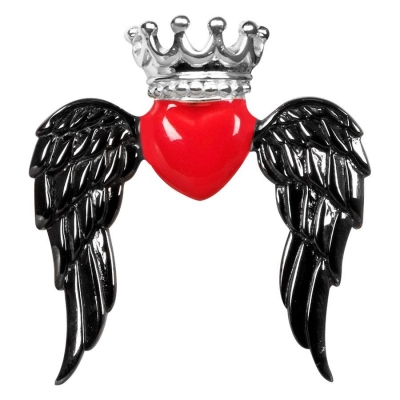 Winged Queen inima rosu negru