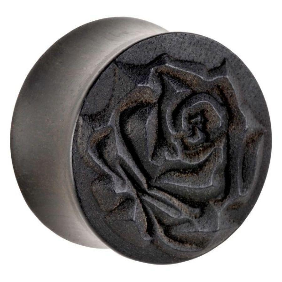 trandafir on abanos lemn